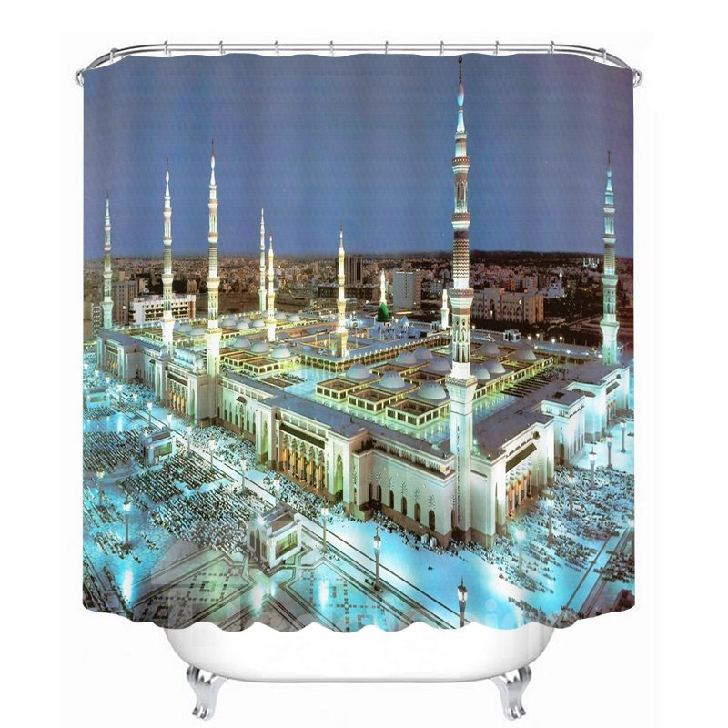 Magnificent Building of Prague 3D Printed Bathroom Waterproof Shower Curtain