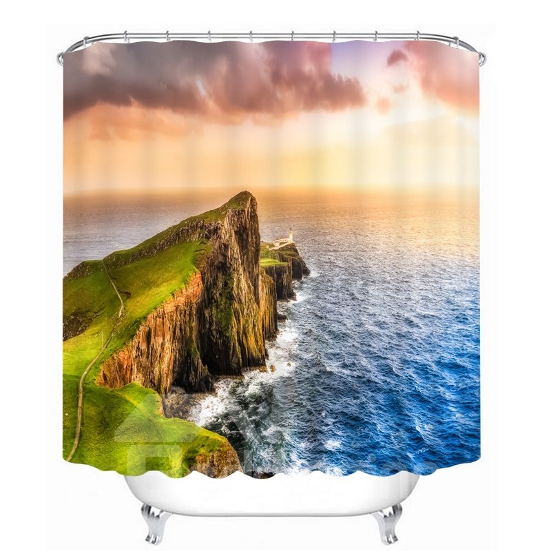 Picturesque Nature Scenery 3D Printed Waterproof Shower Curtain