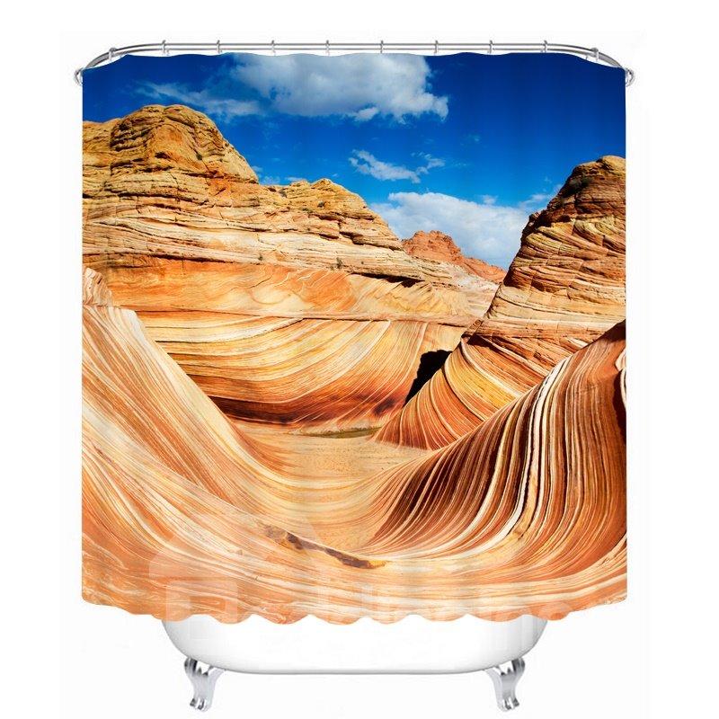 Beautiful Desert Scenery of Arizona 3D Printed Bathroom Waterproof Shower Curtain