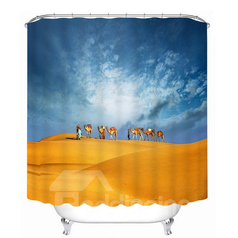 Travel in the Desert 3D Printed Bathroom Waterproof Shower Curtain
