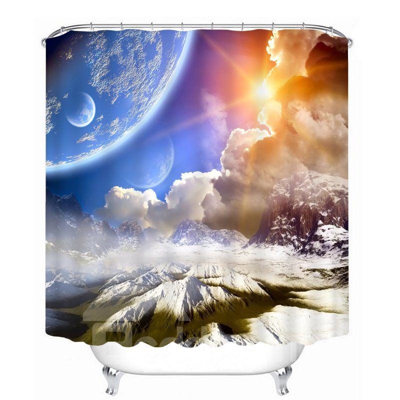 Spectacular Nature Scenery 3D Printed Bathroom Waterproof Shower Curtain