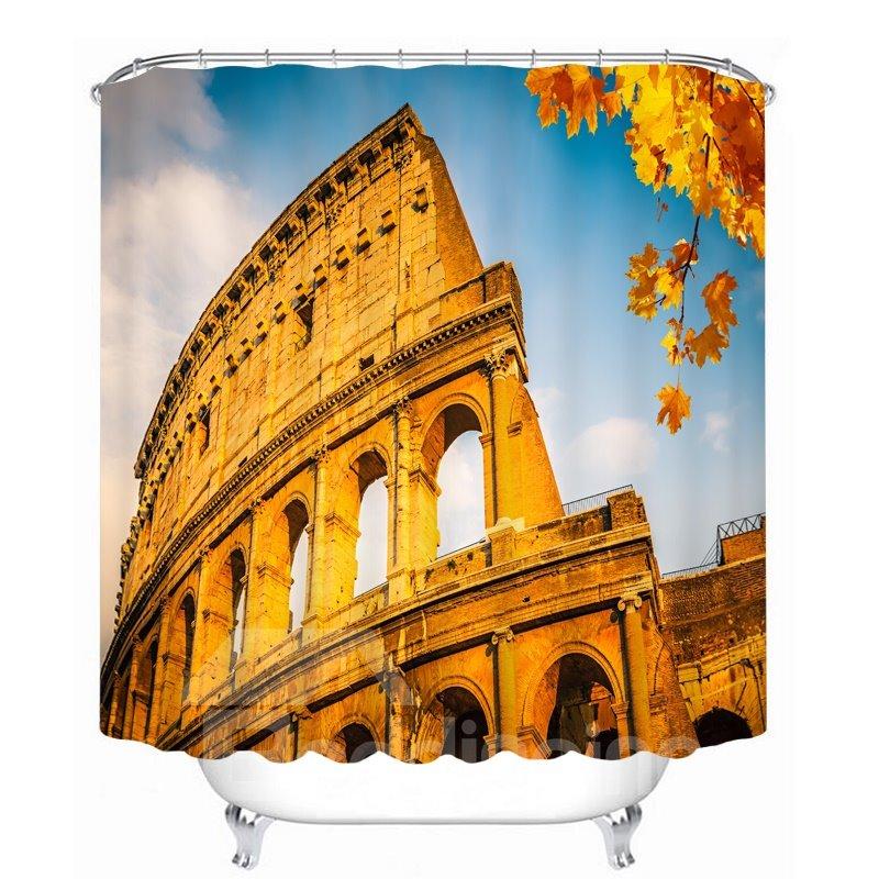 Wonderful Roman Colosseum 3D Printed Bathroom Waterproof Shower Curtain