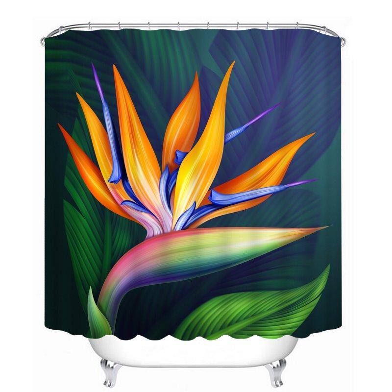 Abstract Art Lotus 3D Printed Bathroom Waterproof Shower Curtain