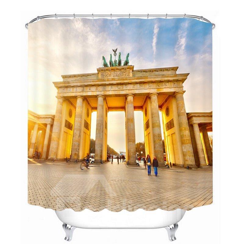 Famous Brandenburg Gate 3D Printed Bathroom Waterproof Shower Curtain