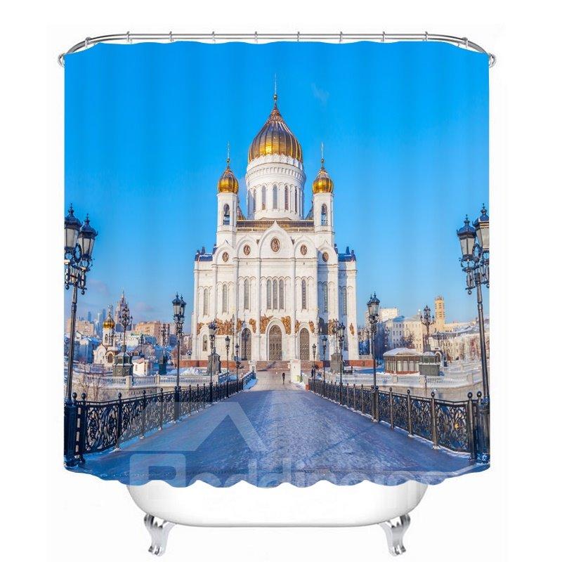 Famous Building in St.Petersburg 3D Printed Bathroom Waterproof Shower Curtain