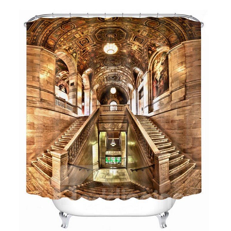 Baroque Castle 3D Printed Bathroom Waterproof Shower Curtain