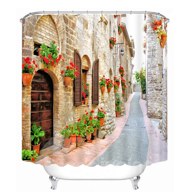 Relaxing Countryside Path 3D Printed Bathroom Waterproof Shower Curtain