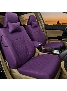 Simplistic Design With Classic Plaid Diamond Patterns Custom Car Seat Covers