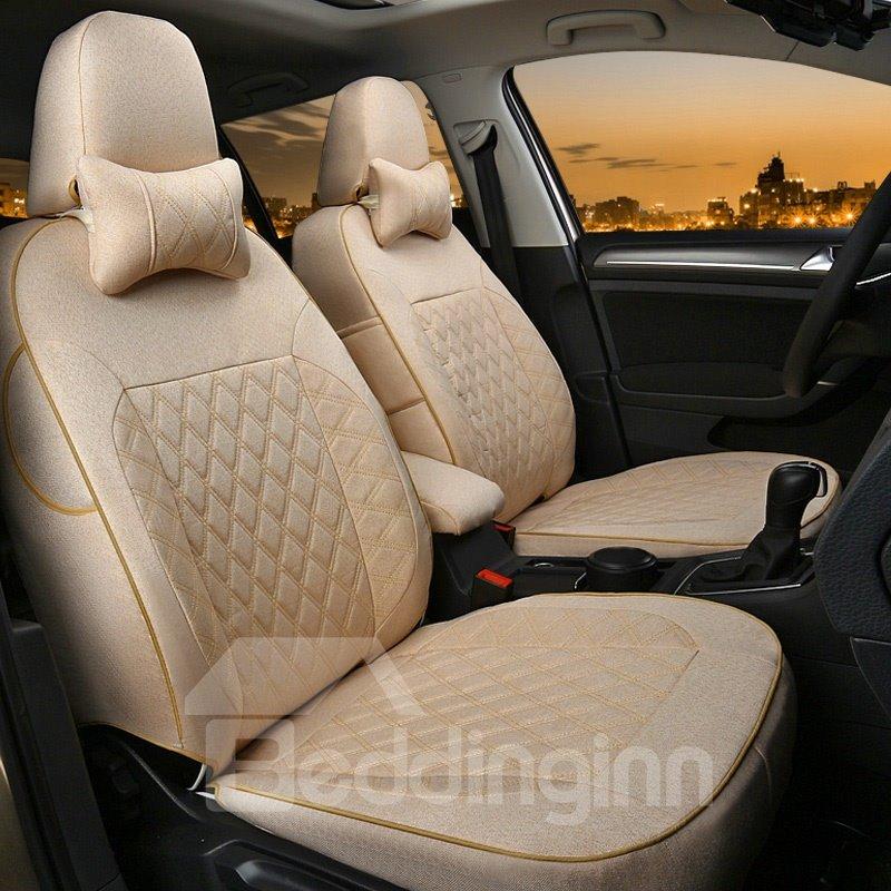 Simplistic Design With Classic Plaid Diamond Patterns Custom Car Seat Covers
