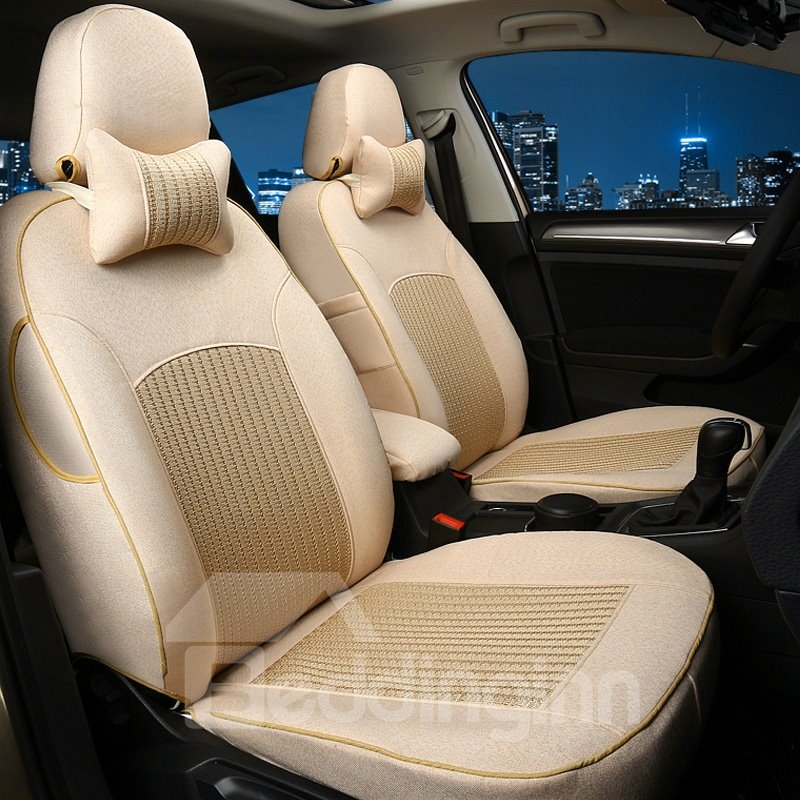 Colorful Luxurious No Electrostatic Flax And Natural Fibers Car Seat Cover