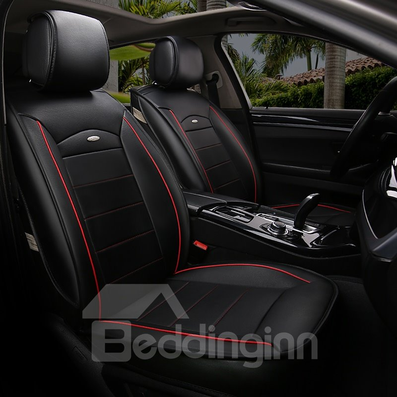 Soft Simple Fast Heat Dissipation Genuine Leather Car Seat Cover