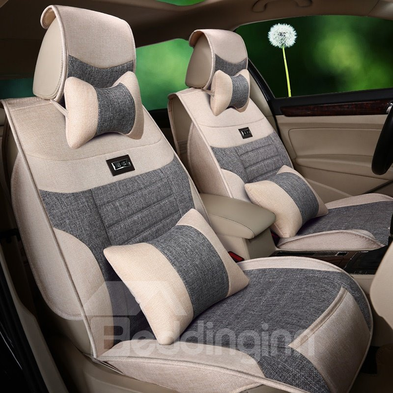 Textured Luxurious Cost-Effective Flax And Natural Fibers Car Seat Cover
