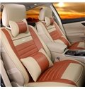 Lines Luxurious Fast Heat Dissipation Genuine Leather Car Seat Cover
