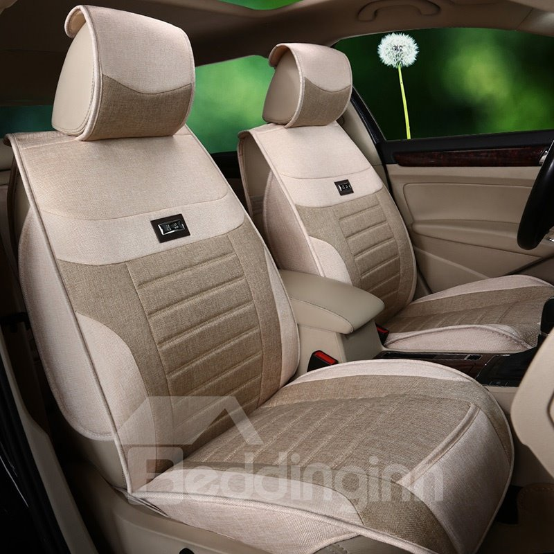 Textured Simple Cost-Effective Flax And Natural Fibers Car Seat Cover