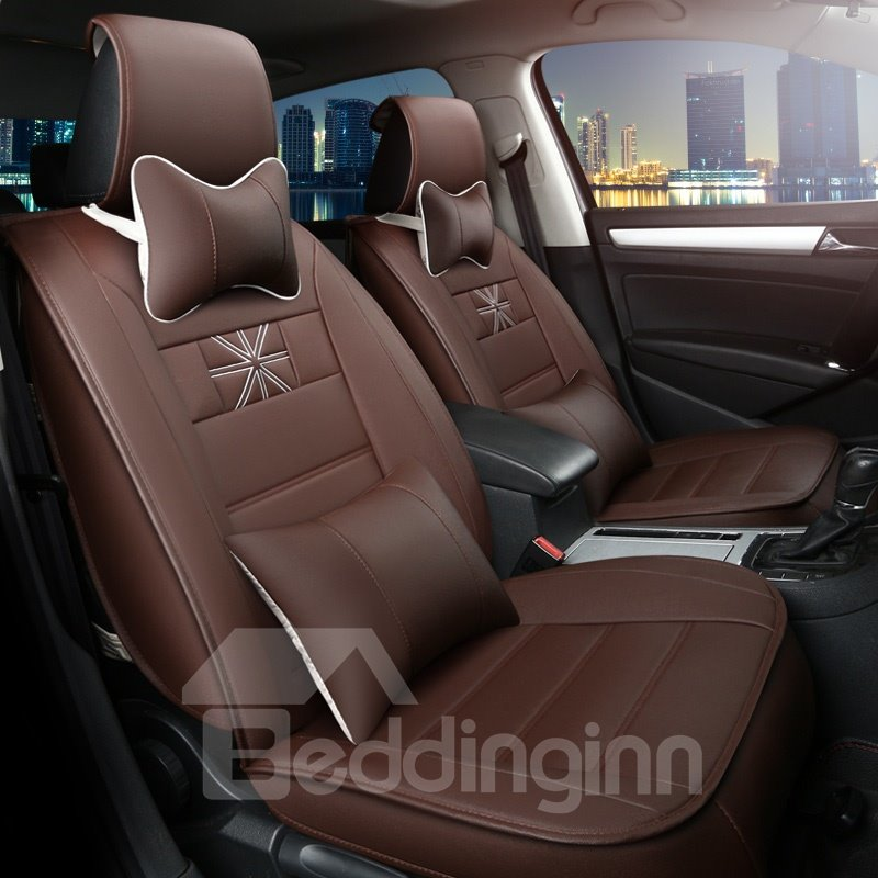 Beautiful Design Luxurious Rubbing Genuine Leather Car Seat Cover