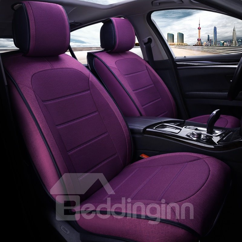 Colorful Simple Matching Interior Genuine Leather Car Seat Cover