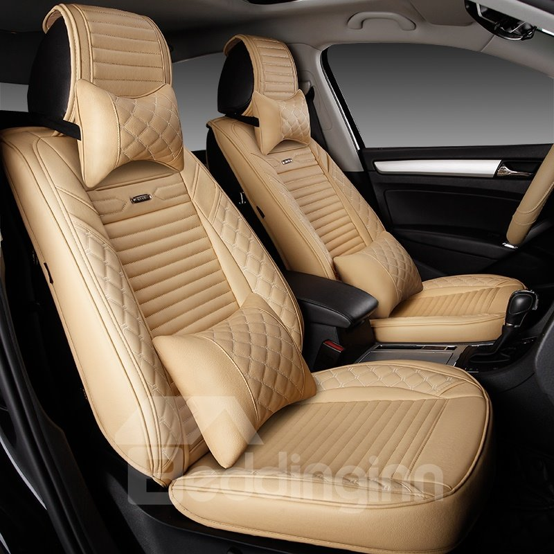 Beautiful Color Luxurious Rubbing Genuine Leather Car Seat Cover
