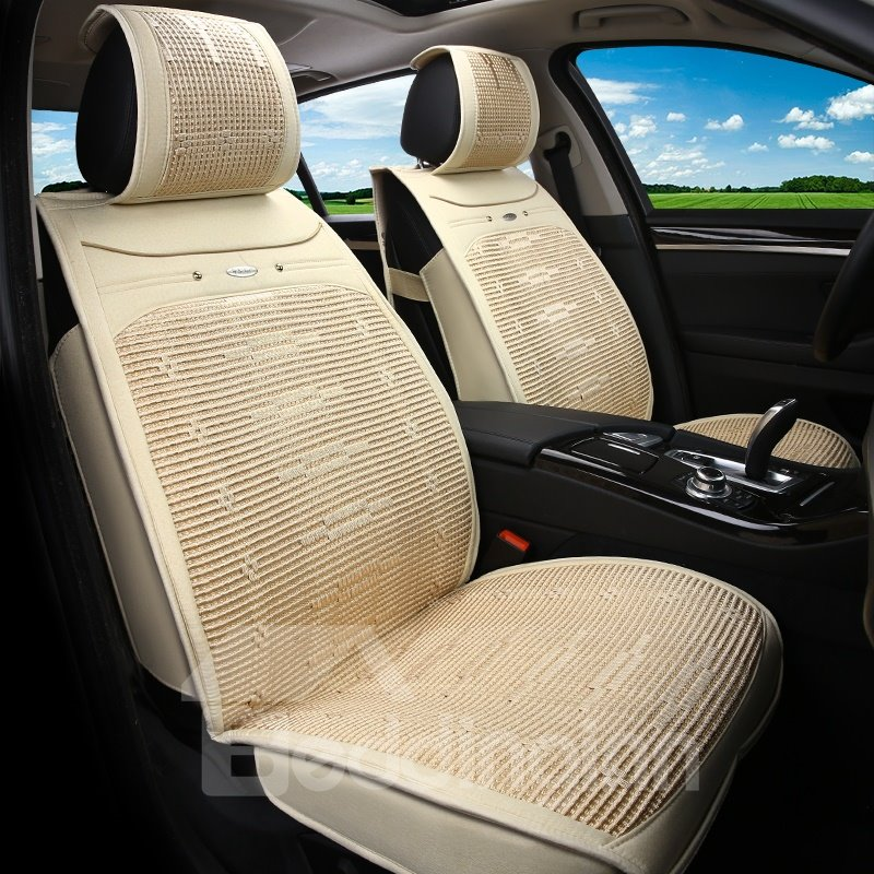Economic Simple No Electrostatic Flax And Natural Fibers Car Seat Cover