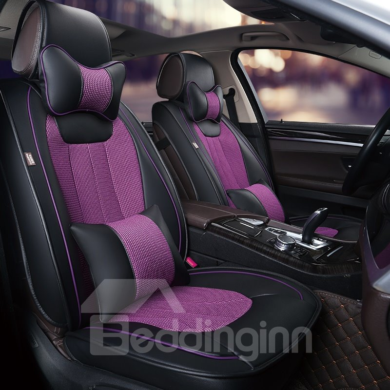 Cozy And Stylish Simple Design Streamlined Patterns Universal Fit Car Seat Cover