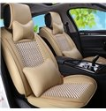 Modernistic Design With Ventilating Plaid Patterns Universal Fit Car Seat Covers