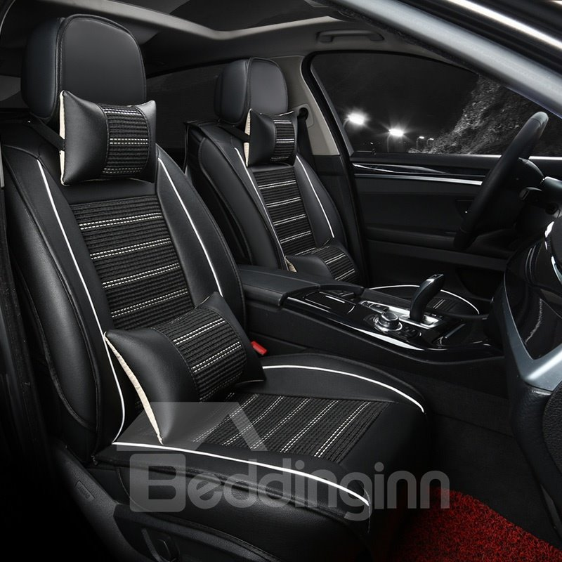 luxuriant in design business matching interior genuine leather car seat cover. Black Bedroom Furniture Sets. Home Design Ideas