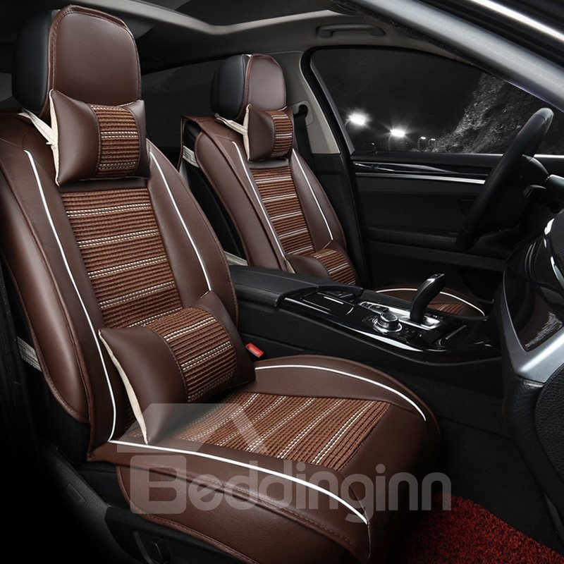 Luxuriant In Design Business Matching Interior Genuine Leather Car Seat Cover