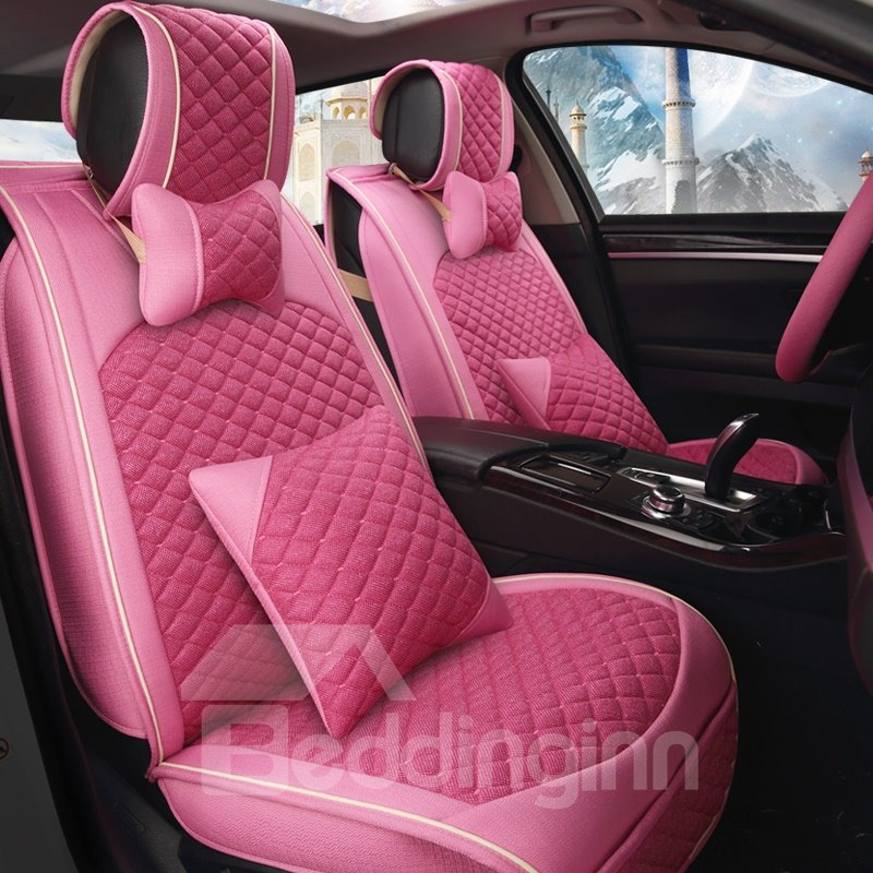 Environmental Protection Luxurious No Electrostatic Flax And Natural Fibers Car Seat Cover