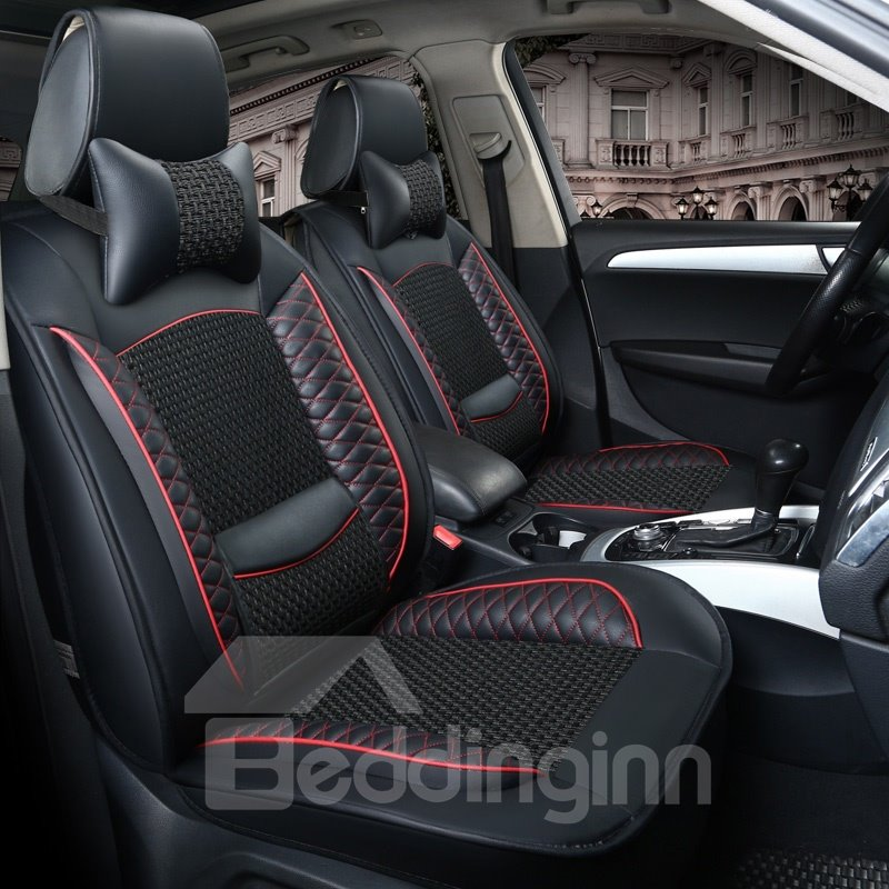 Classic Plaid Patterns With Breathable Grids Universal Car Seat Covers
