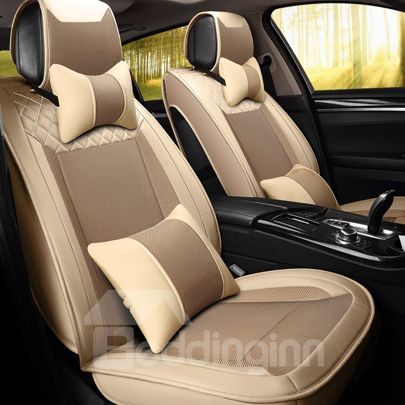 Cozy Luxurious Fast Heat Dissipation Ice Silk And Rayon Car Seat Cover