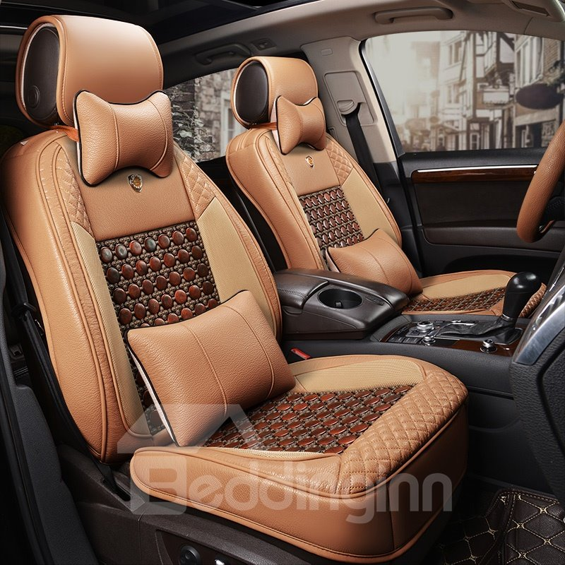 Health Luxurious Improve The Environment Genuine Leather Car Seat Cover