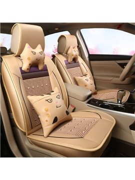 Durable In Use Luxurious No Electrostatic Ice Silk And Rayon Car Seat Cover