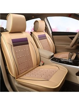 Breathable Cooling Design With Colored Stripes Universal Car Seat Covers