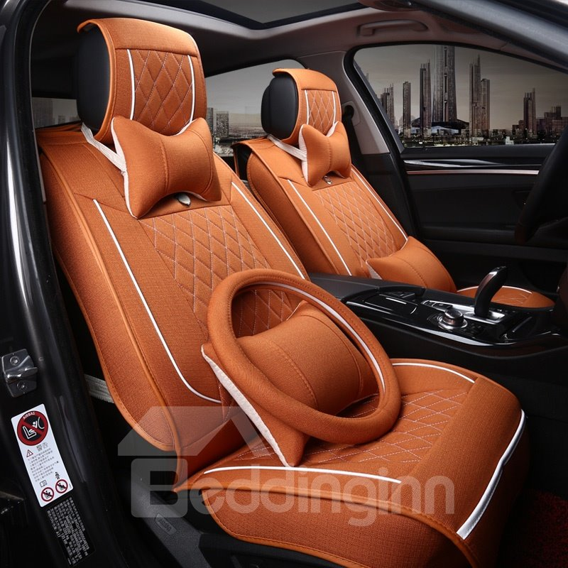 Luxury Business Matching Interior Ice Silk And Rayon Car Seat Cover
