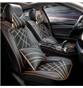 Futuristic Design Streamlined Patterns Leather Universal Fit Car Seat Covers
