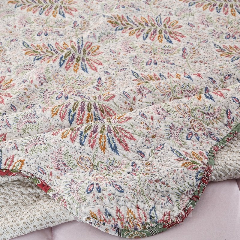 Retro Style Leaves Print 3-Piece Cotton Bed in a Bag