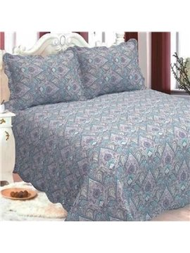 Vintage Style Paisley Print Polyester 3-Piece Bed in a Bag