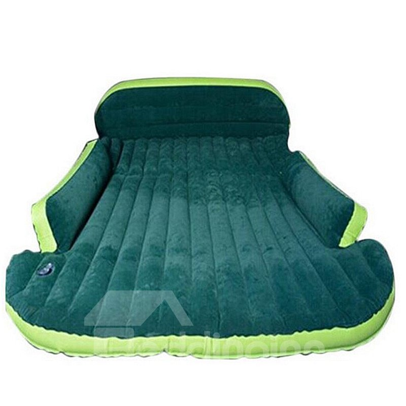 Beautiful Color Cozy Luxurious Purifying Air Coral Velvet Material Car Inflatable Bed Design For SUV