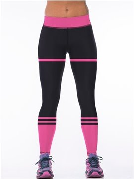 Black Polyester Elastic Waist Fitness Yoga Sport Female 3D Leggings