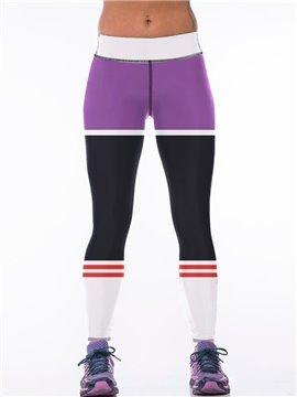Polyester Elastic Waist Fitness Running Sport Female 3D Leggings