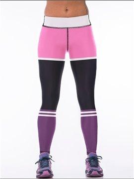 Polyester Elastic Waist Fitness Jogging Female 3D Leggings
