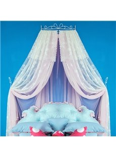 Princess Style Double Layers Light Pink Bed Canopy