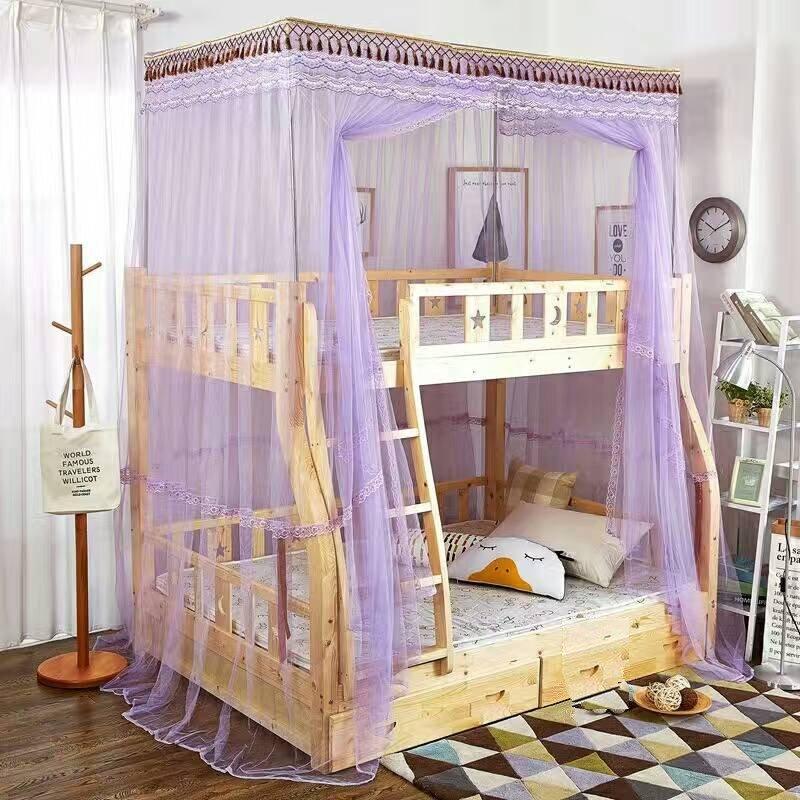 Bunk Bed Dormitory Single Door Durable Polyester Mosquito