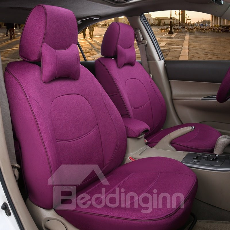 Colorful Beautiful Design Pure Flax And Natural Fibers Customed-Fit Car Seat Cover