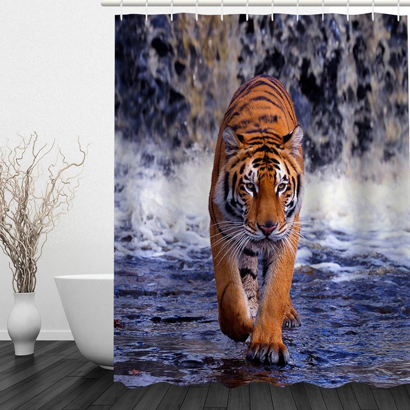 59 3D Walking Siberian Tiger Printed