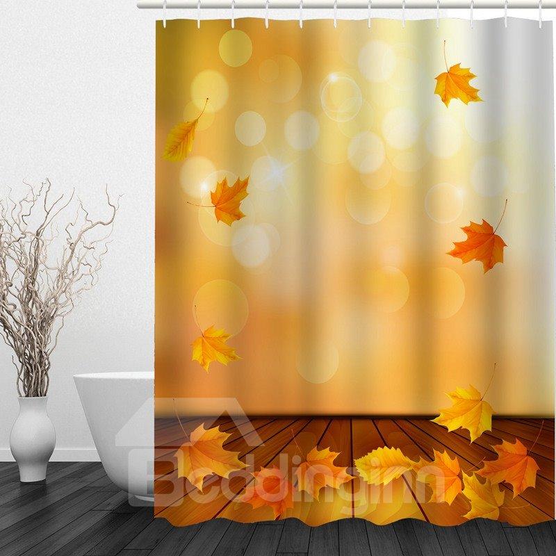 Fall Leaves 3D Printed Bathroom Waterproof Shower Curtain