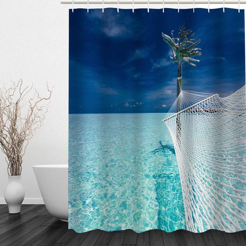 Fantastic Sea 3D Printed Bathroom Waterproof Shower Curtain