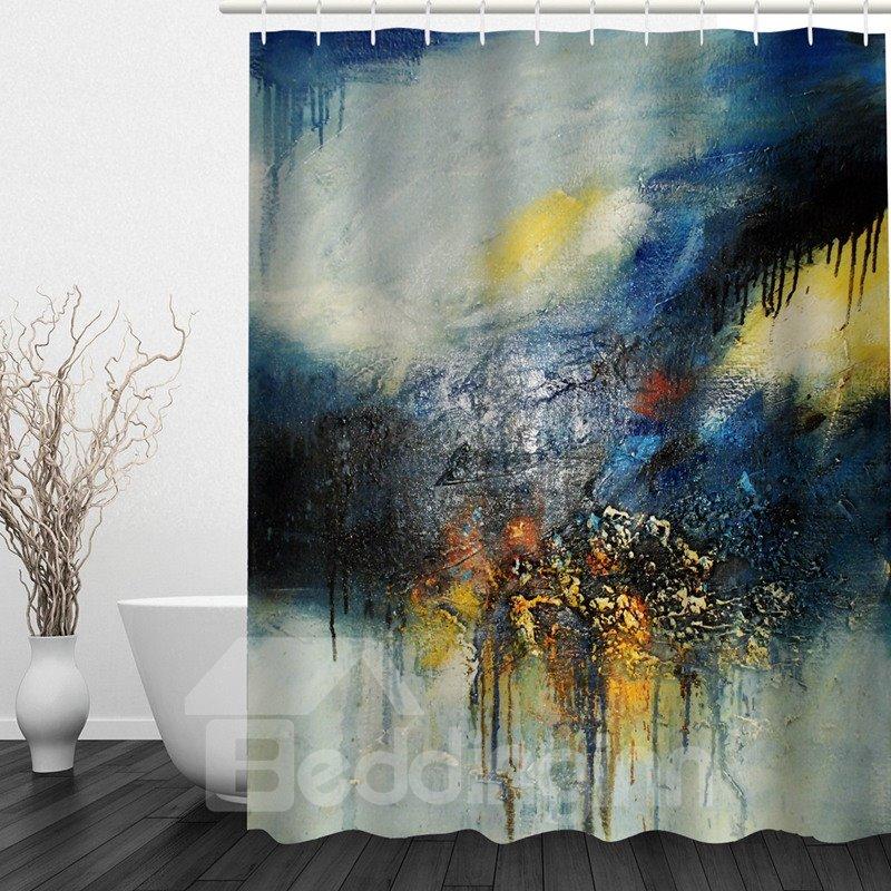 Abstract Art 3D Printed Bathroom Waterproof Shower Curtain