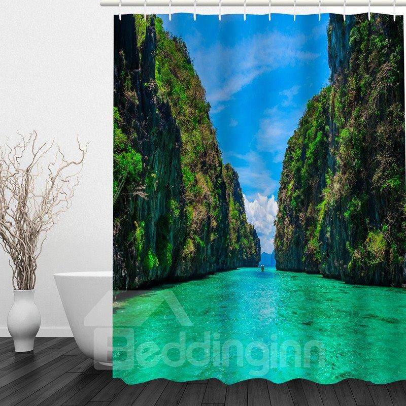 Brilliant Nature Scenery 3D Printed Bathroom Waterproof Shower Curtain