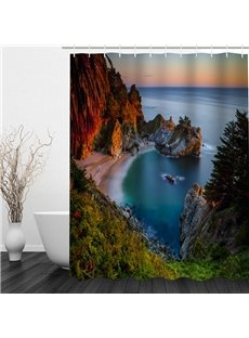 Beautiful Seaside Scenery 3D Printed Bathroom Waterproof Shower Curtain