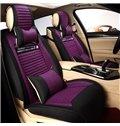 Delicate Colors Ornamental Graffiti Flax And Natural Fibers Universal Car Seat Cover